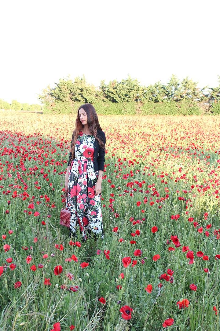 blog au pays de candy,blog mode,blog mode montpellier,blog montpellier,coquelicots monnet,robe metisu,sac chanel rouge,escarpins sam edelman