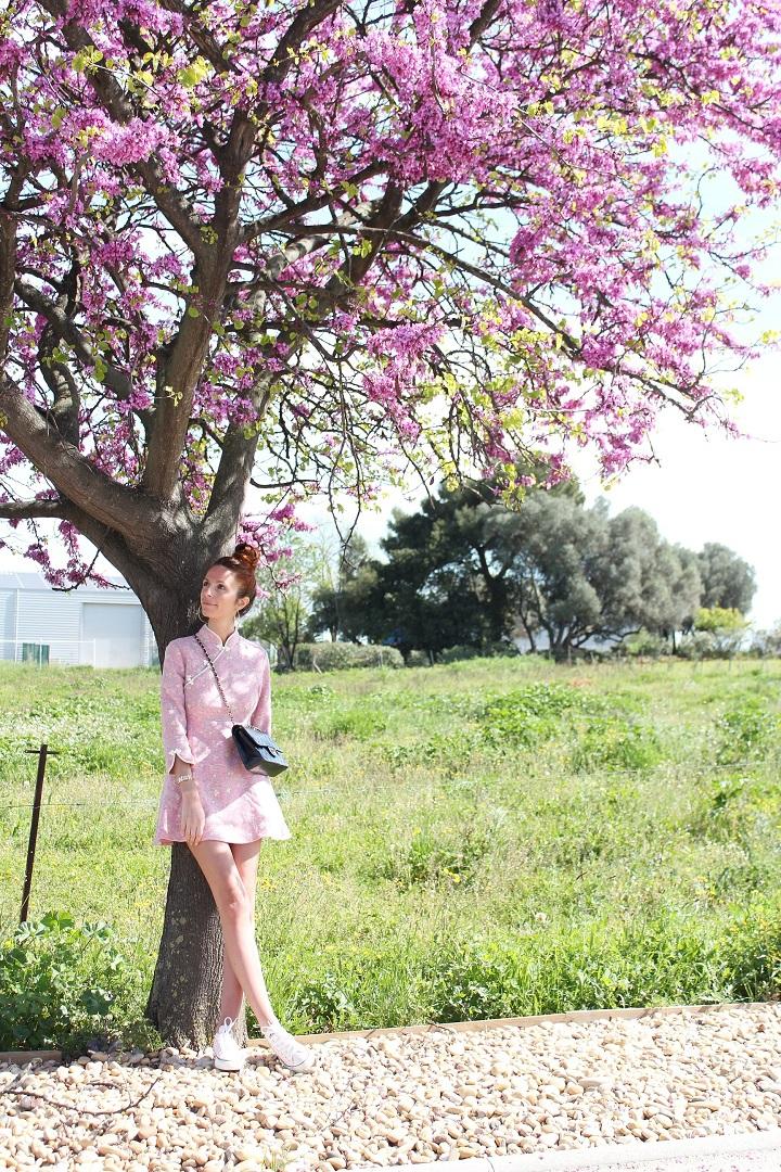 cherry blossom,la fille au cerisier,robe metisu,blog mode,au pays de candy,blog mode montpellier