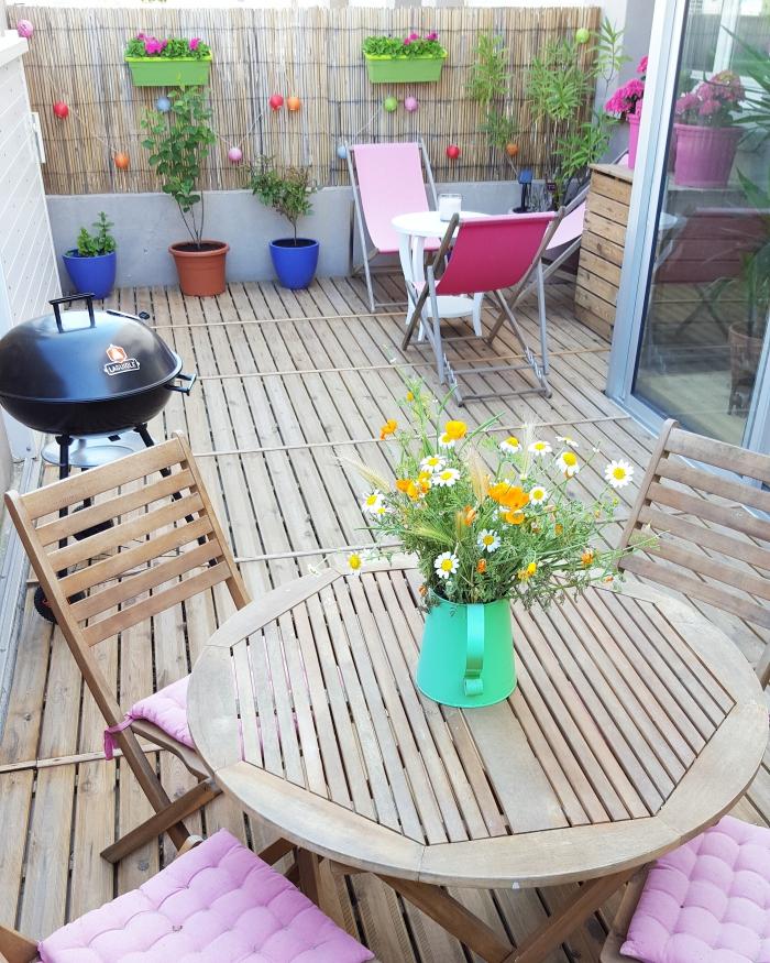 terrasse,terrasse colorée,homesweethome,madecoamoi,interieur scandinave,deco scandinave,deco au pays de candy