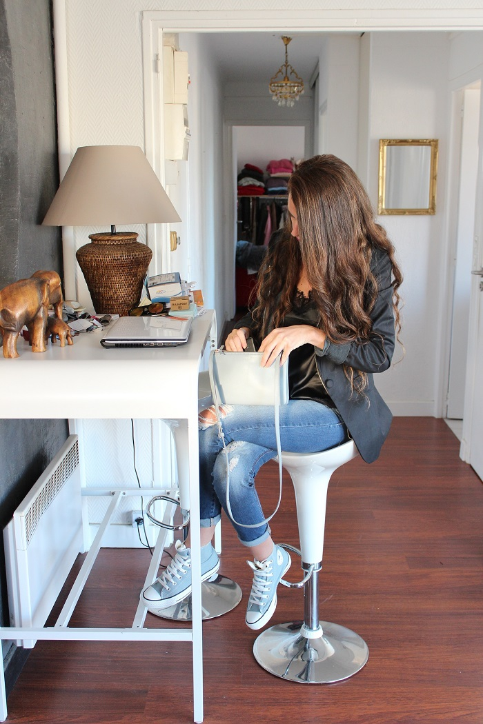 au pays de candy,blog mode,blogueuse mode,tendances,looks,comment s'habiller,tenues,jeans slim,hoodies,dentelle,céline,trio bag