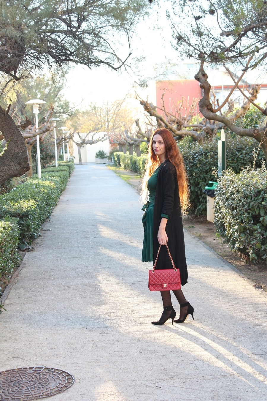 green angel,blog au pays de candy,blog mode,blog mode au pays de candy,blog mode montpellier,blog montpellier,metisu,robe metisu,escarpins zara,collants wolford,sac chanel,gilet cachemire