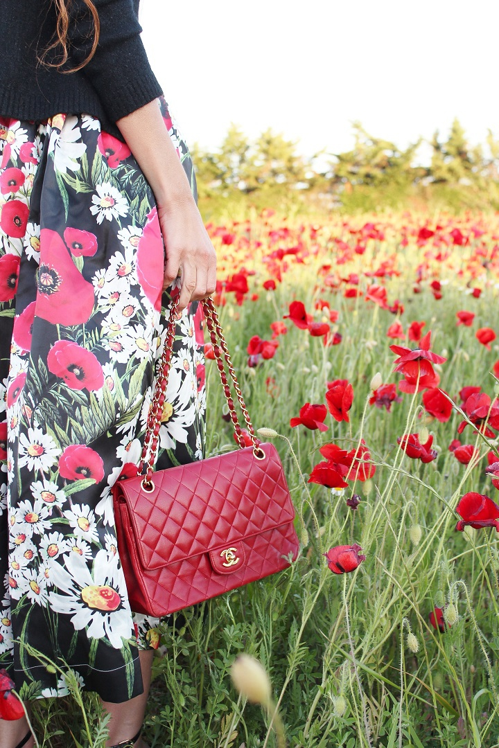 blog au pays de candy,blog mode,blog mode montpellier,blog montpellier,coquelicots monnet,robe metisu,sac chanel rouge,escarpins sam edelman
