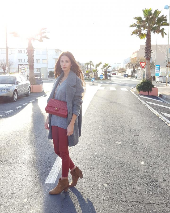 la redoute,tenue du jour,blog mode,blog mode montpellier,sac chanel,manteau la redoute,boots isabel marant