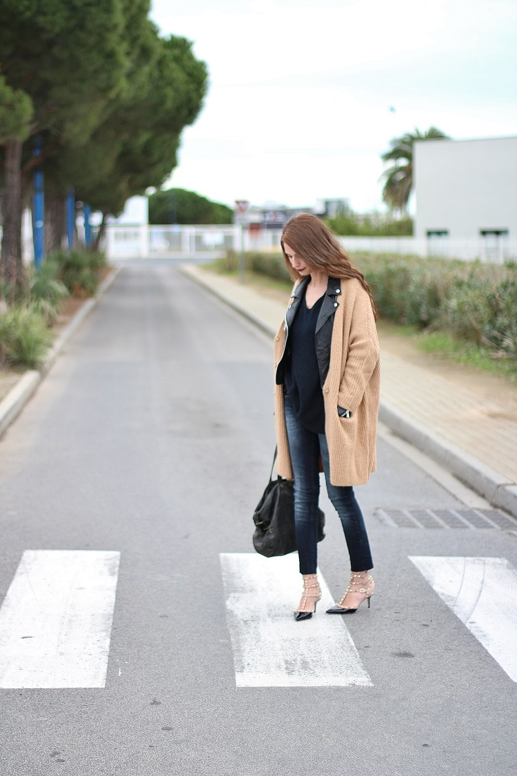 blog mode,blogueuse mode,au pays de candy,tendances,look,comment s'habiller; gilet,perfecto,valentino,rockstud,jerome dreyfuss